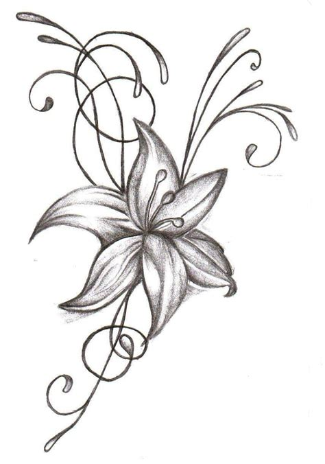 flower design pictures black and white flower tattoo designs cliparts co