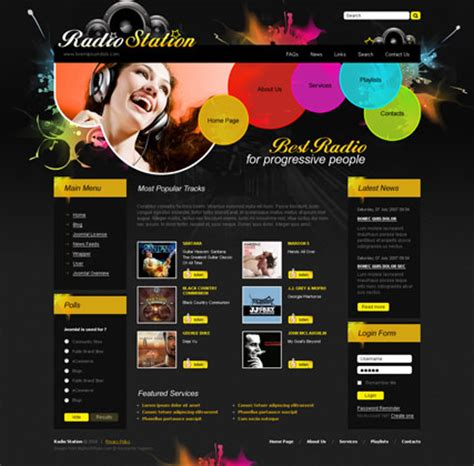 templates for radio website radio fm v2 5 joomla template html5 web templates 300110872