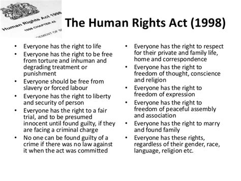 all human rights list human rights