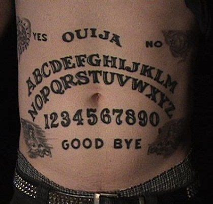 mysterious ouija tattoos  halloween talking board ouija tattoo stomach tattoos tattoos