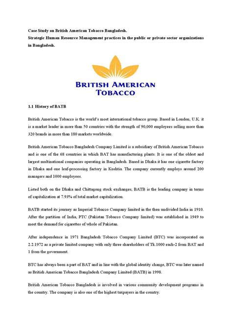 Justification Letter Visa Canada Study On American Tobacco Bangladesh By Md Papon Issuu