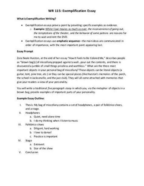 exemplification essay sles exemplification essay exles exemplification essay