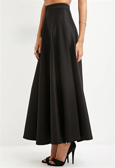 Maxi Black A a line skirt maxi redskirtz