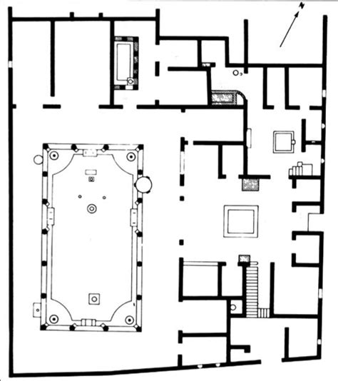 house of the vettii floor plan pompeii italy pompeii and italy on pinterest