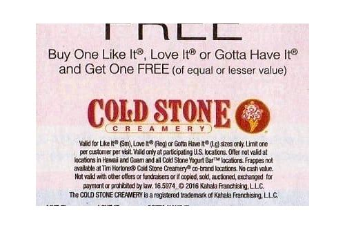 cold stone coupon september 2018