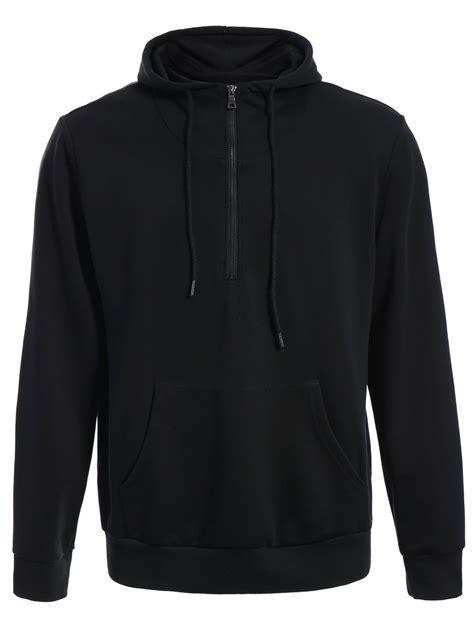 Hoodie Zipper Black front pocket mens oversized hoodie black l in hoodies