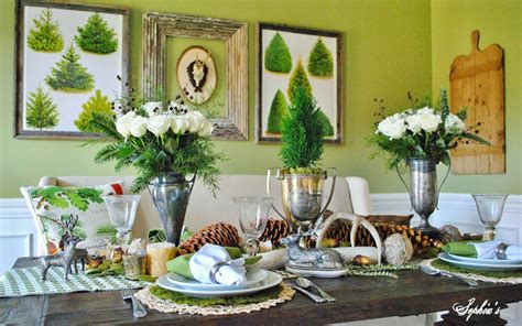 runder speisesaal tischset dekor mobel wald weihnachten im speisesaal