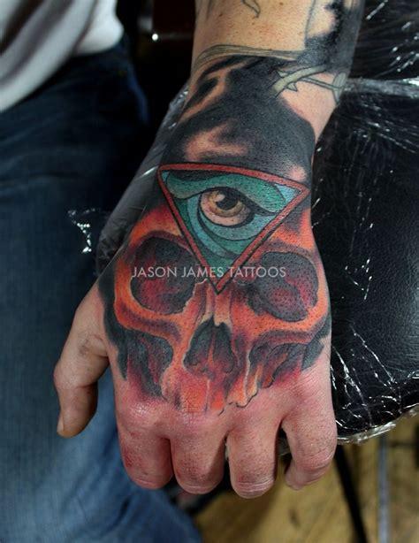tattoo my photo 2 0 pro neo traditional skull and eye hand piece tattoo by jason