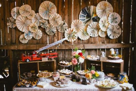 how to create a rustic dessert table for your barn wedding reality check rustic chic dessert table weddbook