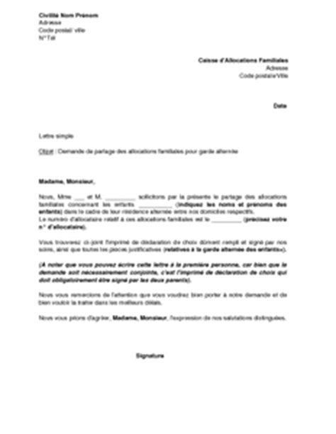 Demande De Garde Exclusive Lettre modele lettre garde alternee document