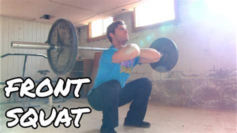 perform  front squat quads exercise tutorial