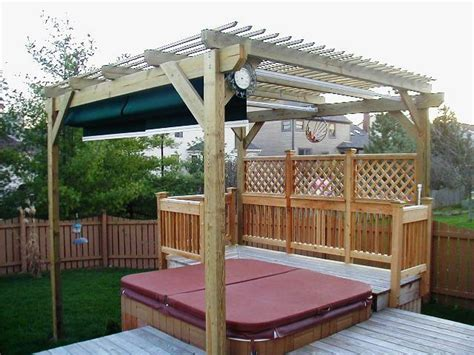 hot tub retractable awning outdoor kitchens columbus decks porches and patios by