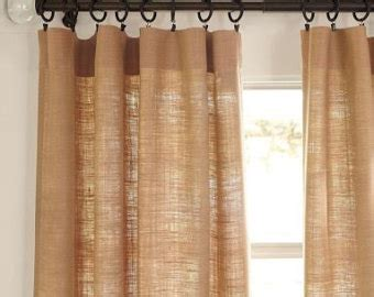 burlap curtain panels sale items similar to reserved for lisa made to order burlap