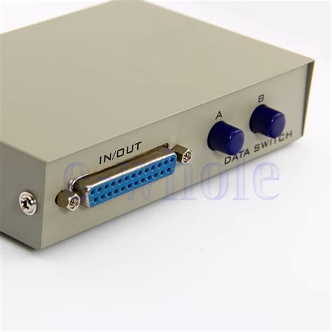 Manual Switch Printer 2 Port Data Switcher 1 2 Usb Murah 2 ports manual parallel db25 serial rs232 data switch 2 in 1 out hm ebay