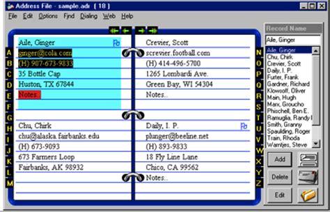 address book software program for microsoft windows