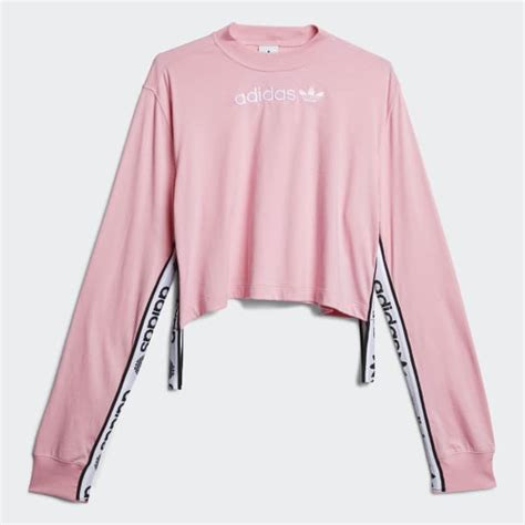 adidas tape tee pink adidas uk