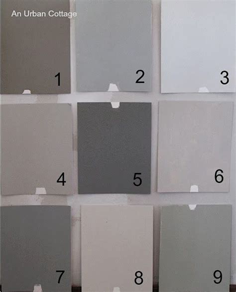 farrow paint colors 1 charleston gray 2 l room gray 3 ammonite 4 purbeck 5 mole