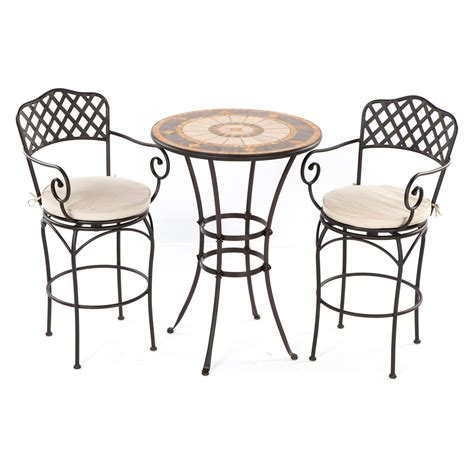 Cast Iron Bistro Chairs Rounded Black Cast Iron Bistro Table Mixed White Fabric Cushioned Seat Swivel Chair Of Lovable