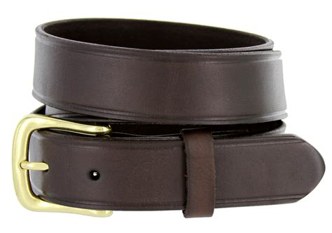 heritage leather dress work belt 1 1 4 quot wide brown