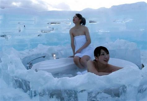 ice bathtub chill at the best ice hotels pursuitist