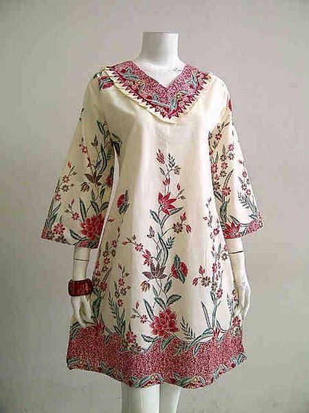 jual baju batik solo tunik batik big size dress batik