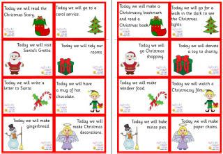 printable advent calendar messages ideas for filling your home made advent calendars