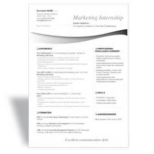 word cv resume template marketing