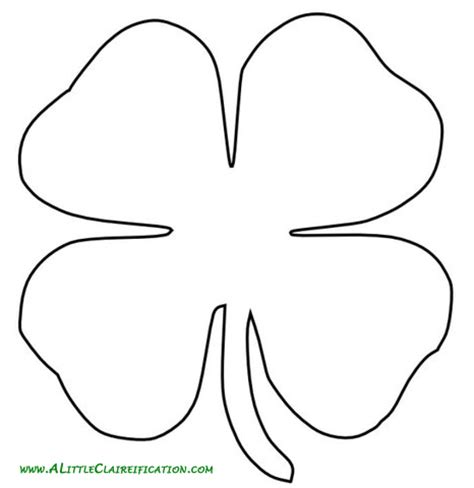 gallery four leaf clover writing template