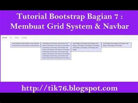bootstrap navbar tutorial youtube tutorial bootstrap bagian 7 membuat grid system dan