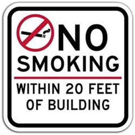 no smoking signs within 20 feet amazon com no smoking within 20 feet of building sign