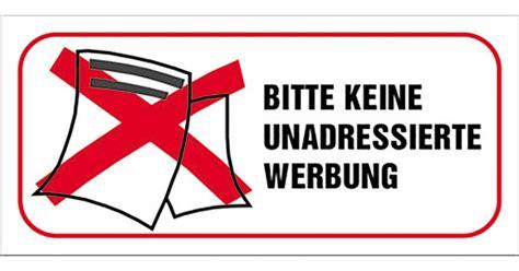 Aufkleber Keine Unadressierte Werbung by Aufkleber Unadressierte Werbung 1177330 Let S Doit