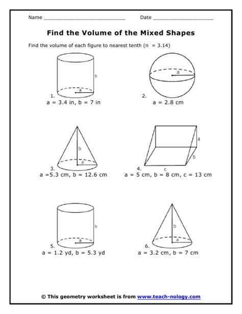 printable math worksheets surface area mixed shapes all worksheets 187 volume worksheets printable worksheets
