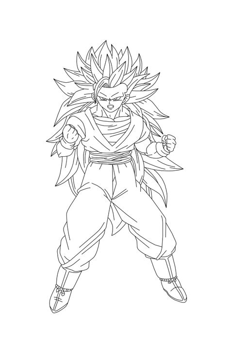goku ss3 coloring pages free 1 goku coloring pages