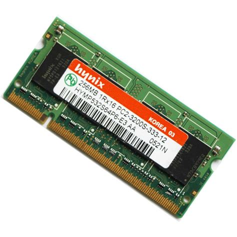 Memory Laptop hynix 256mb ddr2 pc2 3200 400mhz sodimm laptop memory ram
