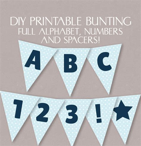 printable letters bunting blue printable bunting diy banner with full alphabet