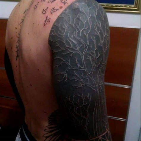 Tinta Tato Black 50 white ink tattoos that redefine what beautiful is