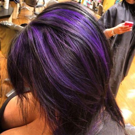 photos purple highlights for dark hair warm dark brown pinterest discover and save creative ideas