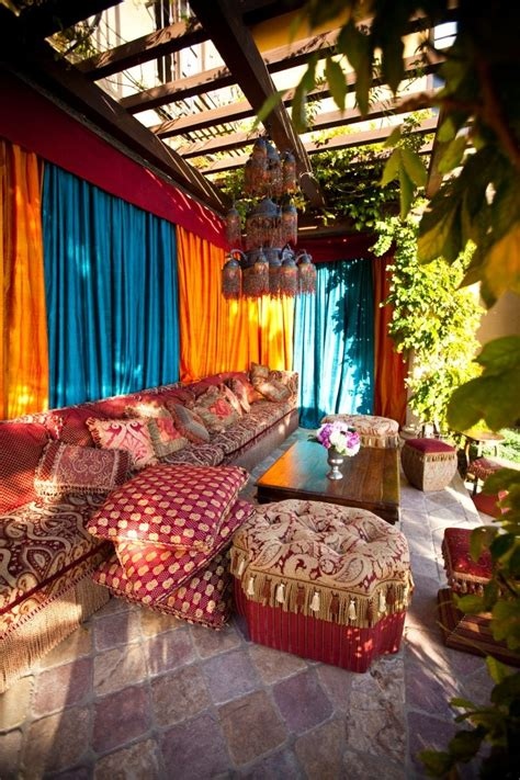 themed patio decor 26 adorable boho chic terrace designs digsdigs