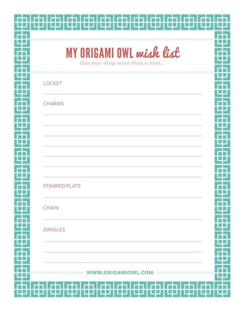 Origami List Of Things - origami owl jewelry wish list origami owl