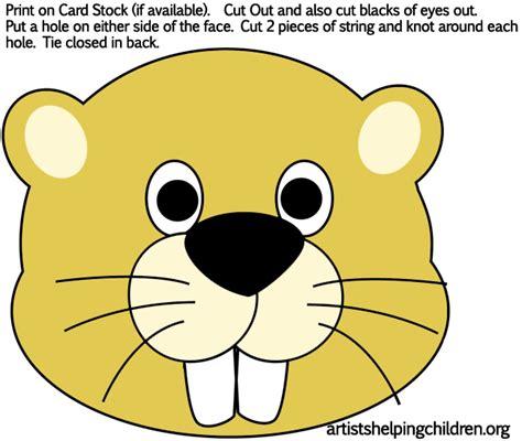 printable groundhog mask groundhog s day mega list of free educational resources