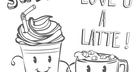 if you love to color a latte print this page for some