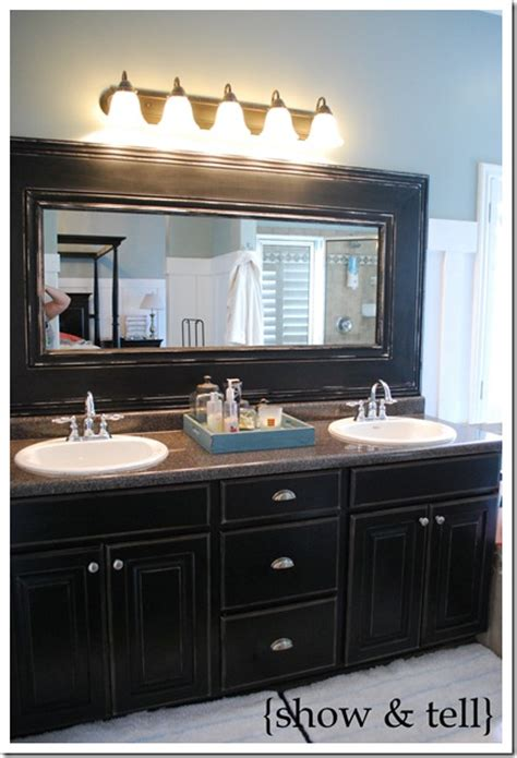 How To Frame Your Bathroom Mirror How To Frame Your Bathroom Mirrors Inspired Bathroom Makeover Part 1