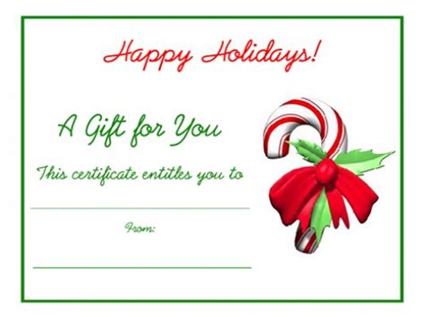 holiday gift certificate template free printable free gift certificates templates to print hubpages