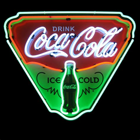 what were beer neon colors in the 50s and 60s neon coca cola coke neon signs neon clocks