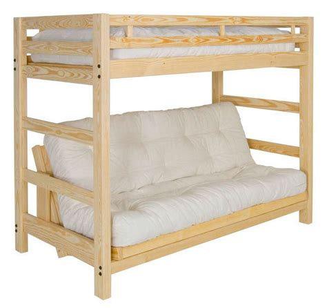 bunk bed with a futon liberty futon bunk bed