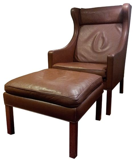 borge mogensen lounge chair borge mogensen leather wingback lounge chair and ottoman