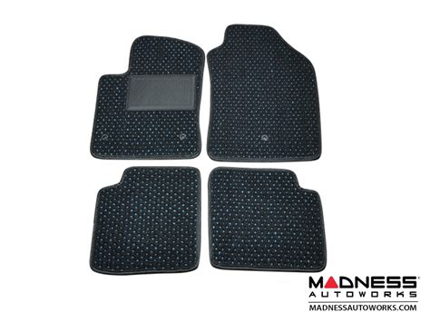 Coco Floor Mats by Fiat 500 Floor Mats Set Of 4 Coco Mats Black W Blue