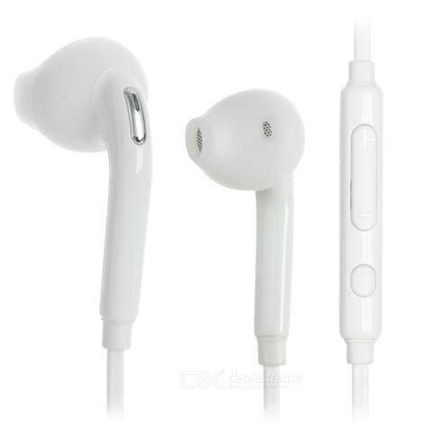 samsung earphones 3 5mm in ear earphones w mic for samsung phones white free shipping dealextreme