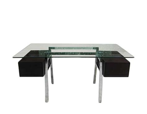 Glass Top Office Desks by Modern Glass Top Office Desk Estyle 24 Desks