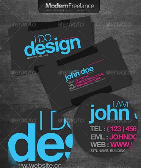 Modern Freelance Business Cards By Ibib Graphicriver Freelance Business Card Template